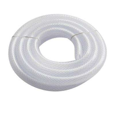 "ID 5//8/"" 25Ft High Pressure Braided Fuel Water Line Tubing Clear Hose Reinforced"