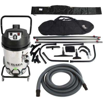Trantor Industrial 2-Motor Vacuum with Filter Shaker and 35 Ft. Carbon Fiber High Reach Attachment Kit