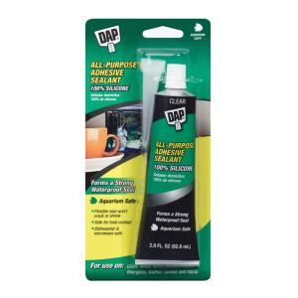 DAP Silicone 2 8 oz  Clear Aquarium Sealant-00755 - The Home Depot