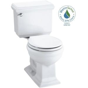 Kohler Memoirs Classic Comfort Height 2-piece 1.28 GPF Single Flush Round Front Toilet in White with Cachet Q3 Toilet... by KOHLER