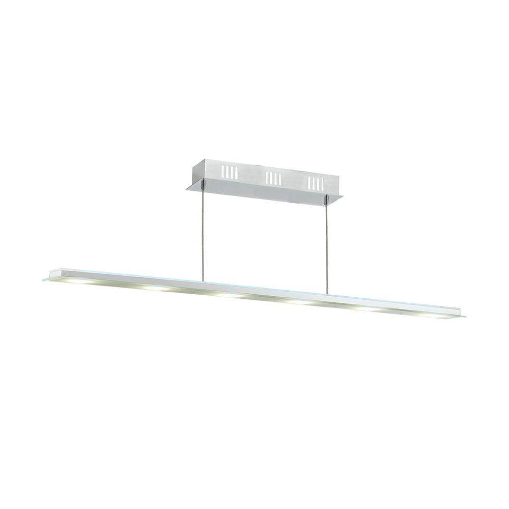 Eglo Mysterio 7-Light Chrome Linear LED Pendant with Remote Control