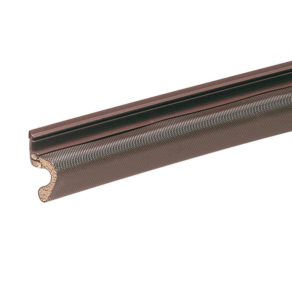 1 in. x 81 in. Brown Vinyl-Clad Foam Kerf Door Seal