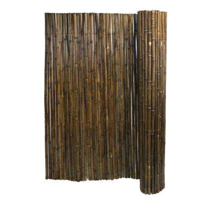 1 in. D x 72 in. H x 8 ft. W Caramel Brown Rolled Bamboo Garden Fence