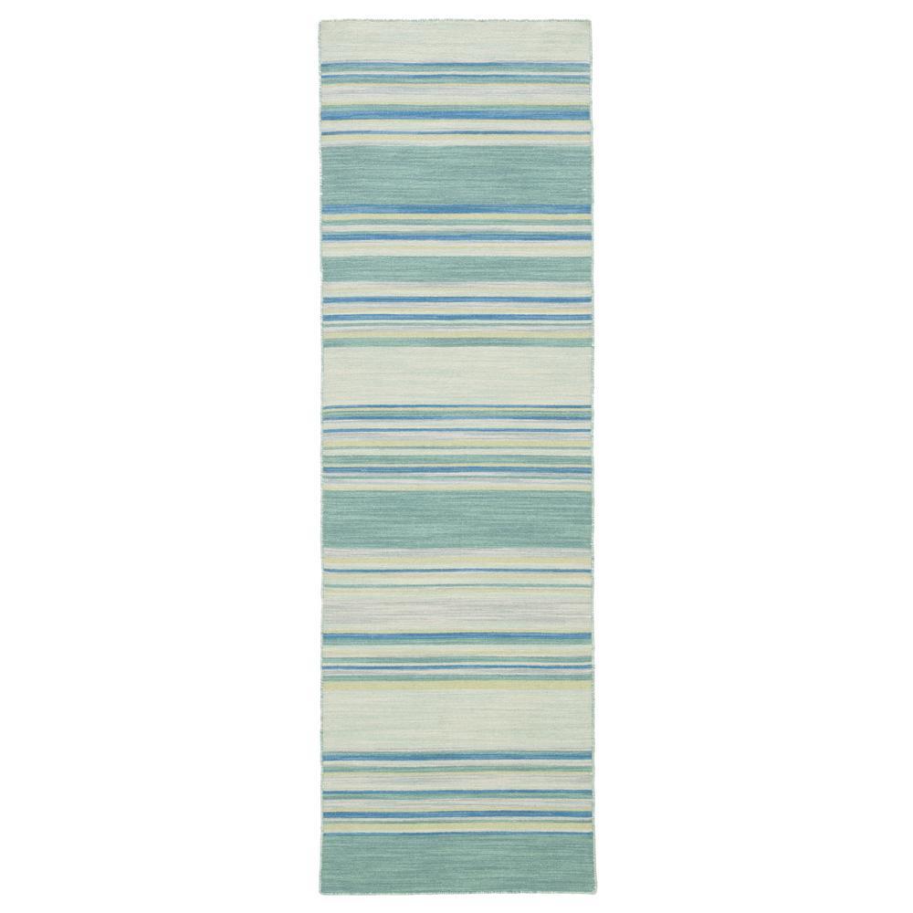 Harbor Gray 3 ft. x 8 ft. Stripe Runner Rug