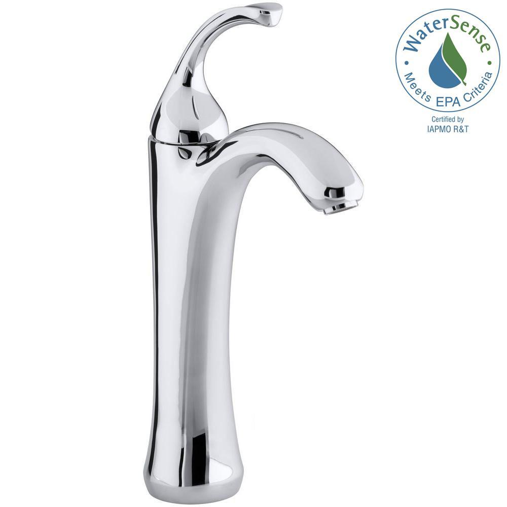 Forte Single Hole Single Handle Mid-Arc Bathroom Faucet in Polished Chrome