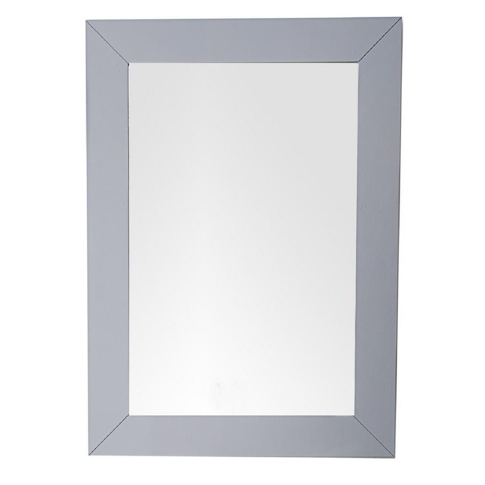 Weston 29 in. W x 40 in. H Single Framed Wall Mirror in Silver Gray