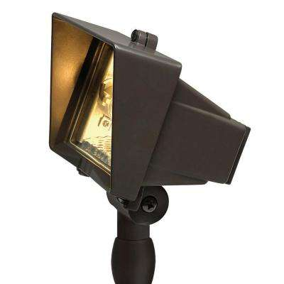 120-Volt Line-Voltage Bronze Flood Light