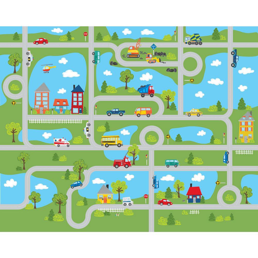Road Map Mural