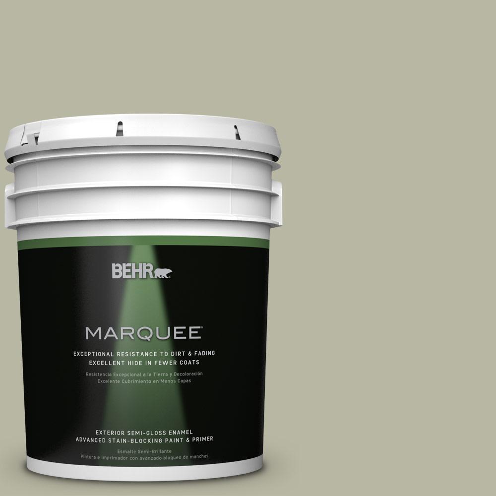 BEHR MARQUEE 5-gal. #QE-34 Court Green Semi-Gloss Enamel Exterior Paint
