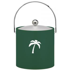 Click here to buy Kraftware Kasualware Palm Tree 3 Qt. Ice Bucket in Green by Kraftware.