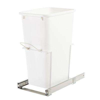 11.38 in. x 20 in. x 22.88 in. In Cabinet Pull-Out Bottom Mount Trash Can