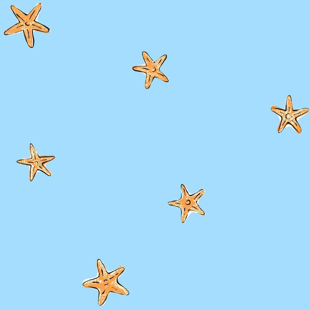 York Wallcoverings 56 sq. ft. Starfish Spot Wallpaper-DISCONTINUED