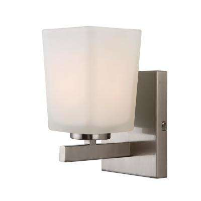 Hartley 1-Light Brushed Nickel Sconce