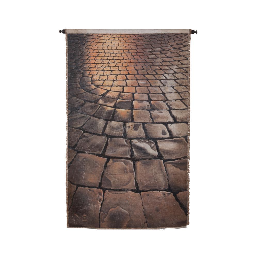 "Gray and Tan ""Cobblestones"" Wall Tapestry"