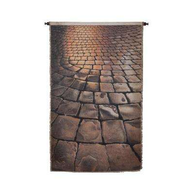 "Gray and Tan ""Cobblestones"" Wall Tapestry"