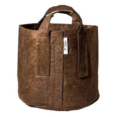 25 Gal. Brown Breathable Boxer Fabric Planting Containers and Pots with Handles Planter (5-Pack)