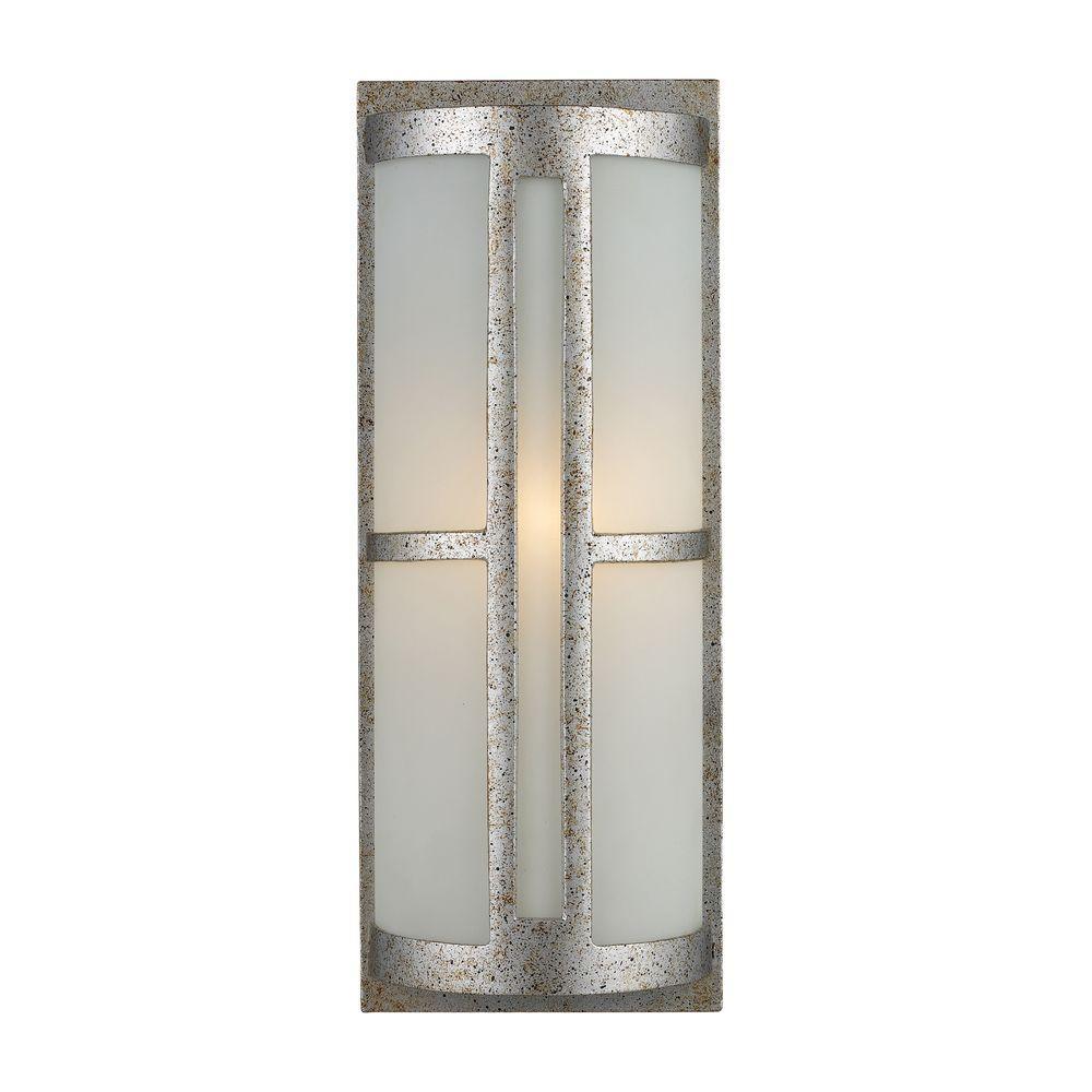 Titan Lighting Trevot Outdoor Sunset Silver Wall Sconce