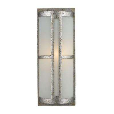 Trevot Outdoor Sunset Silver Wall Sconce