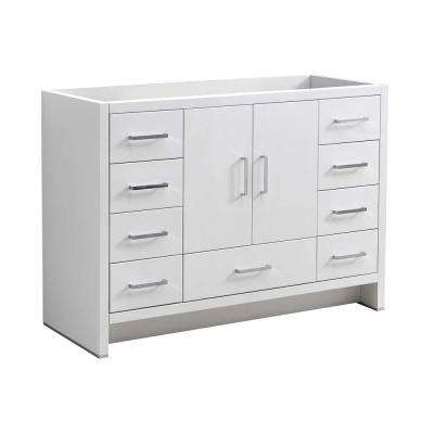 Imperia 48 in. Modern Bath Vanity Cabinet Only in Glossy White