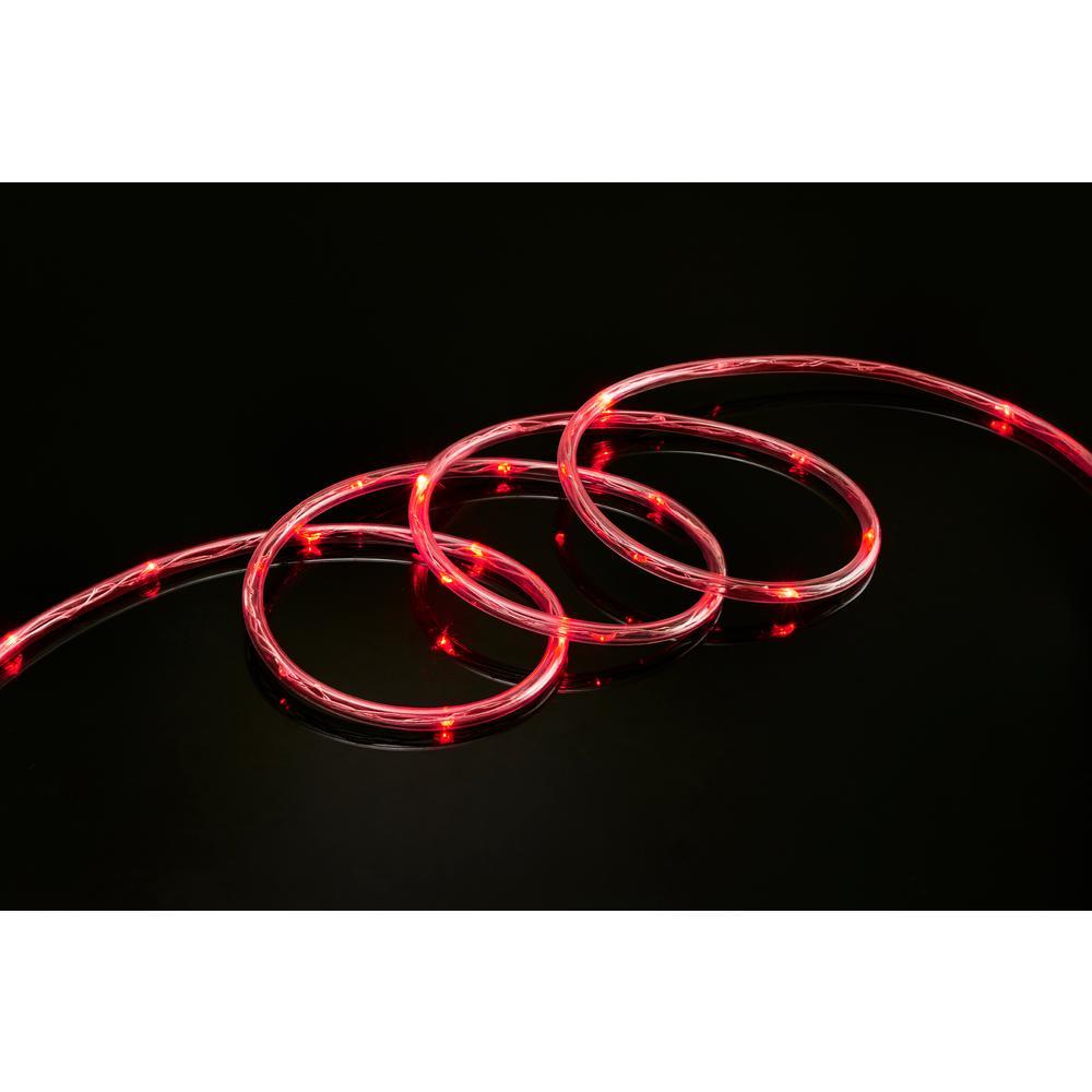 16 ft. 80-Light Red LED Mini Rope Light Jaykal Led Tubes Wiring Diagram on