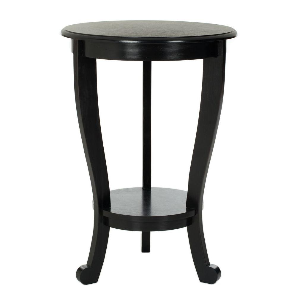 Safavieh Mary Distressed Black Side Table