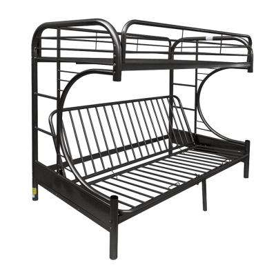 Eclipse Twin Over Black Queen Metal Kids Bunk Bed