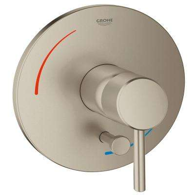 Concetto Soft 1-Handle Bath/Shower Valve Only Trim Kit in Brushed Nickel (Valve Sold Separately)