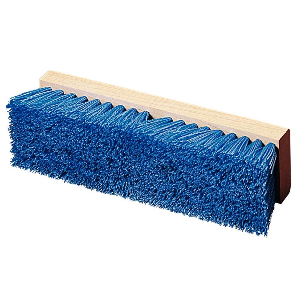 10 in. Blue Polypropylene Deck Scrub Brush (12-Pack)