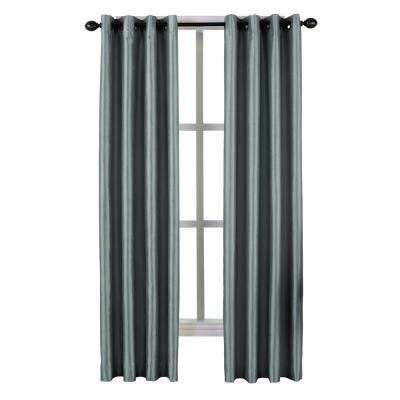 Malta Grommet Lined Panel 50 in. W x 132 in. L in Teal