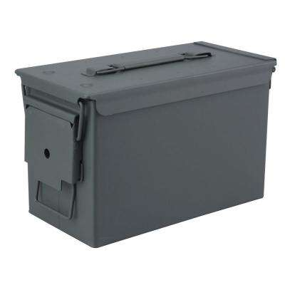 Military Grade 0.50 Cal Metal Tactical Ammo Storage Box in O.D. Green