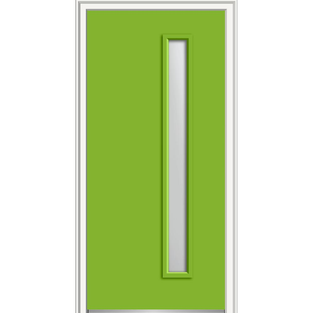 Mmi door 36 in x 80 in viola frosted glass left hand 1 for Home depot frosted glass door