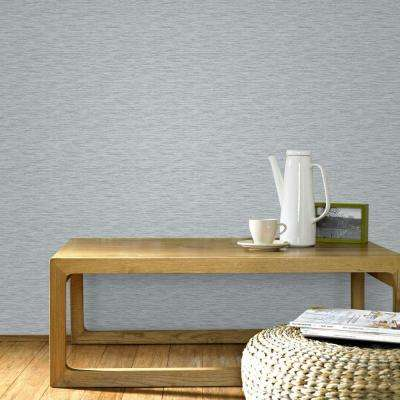 Breeze Gray and Silver Removable Wallpaper Sample