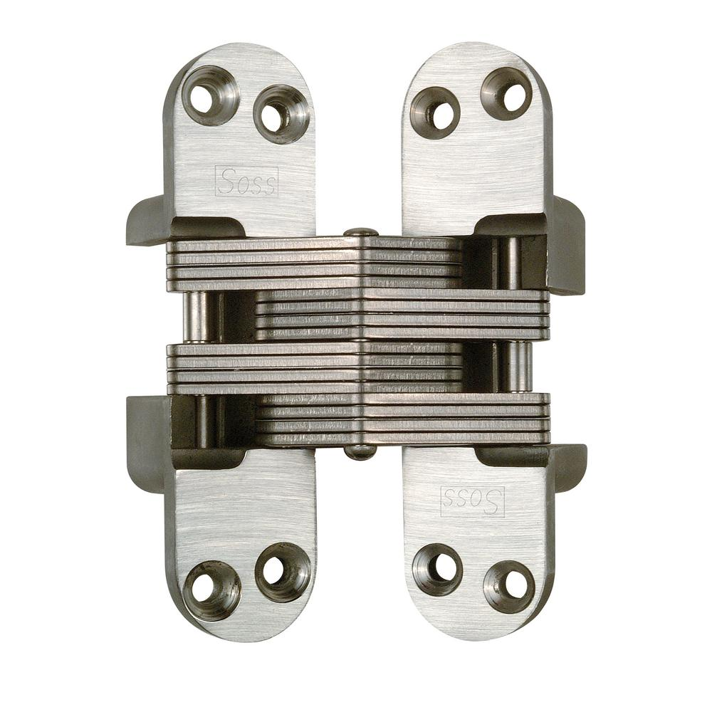 1-1/8 in x 4-39/64 in. Satin Stainless Steel Invisible Hinge