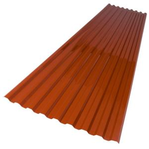 Suntuf 26 In X 6 Ft Red Brick Polycarbonate Roof Panel