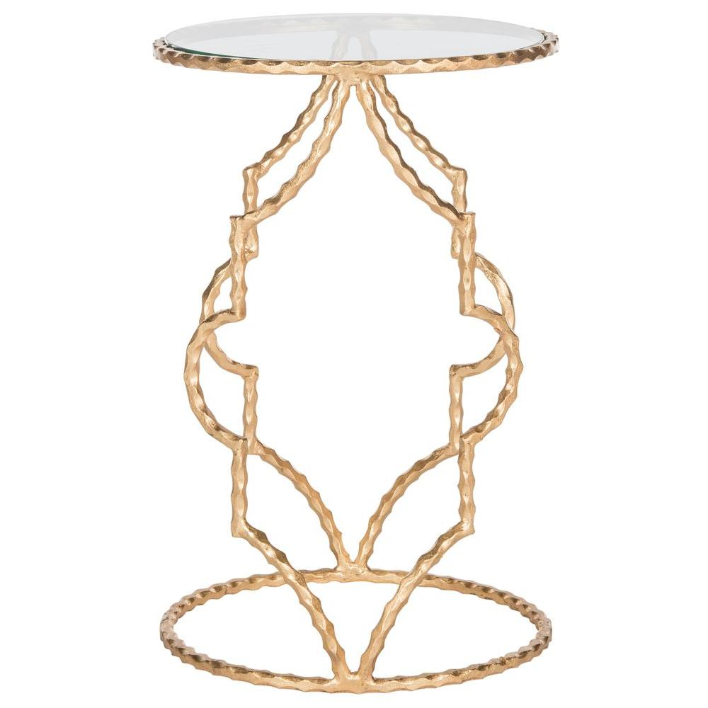 Safavieh Ira Antique Gold Leaf End Table