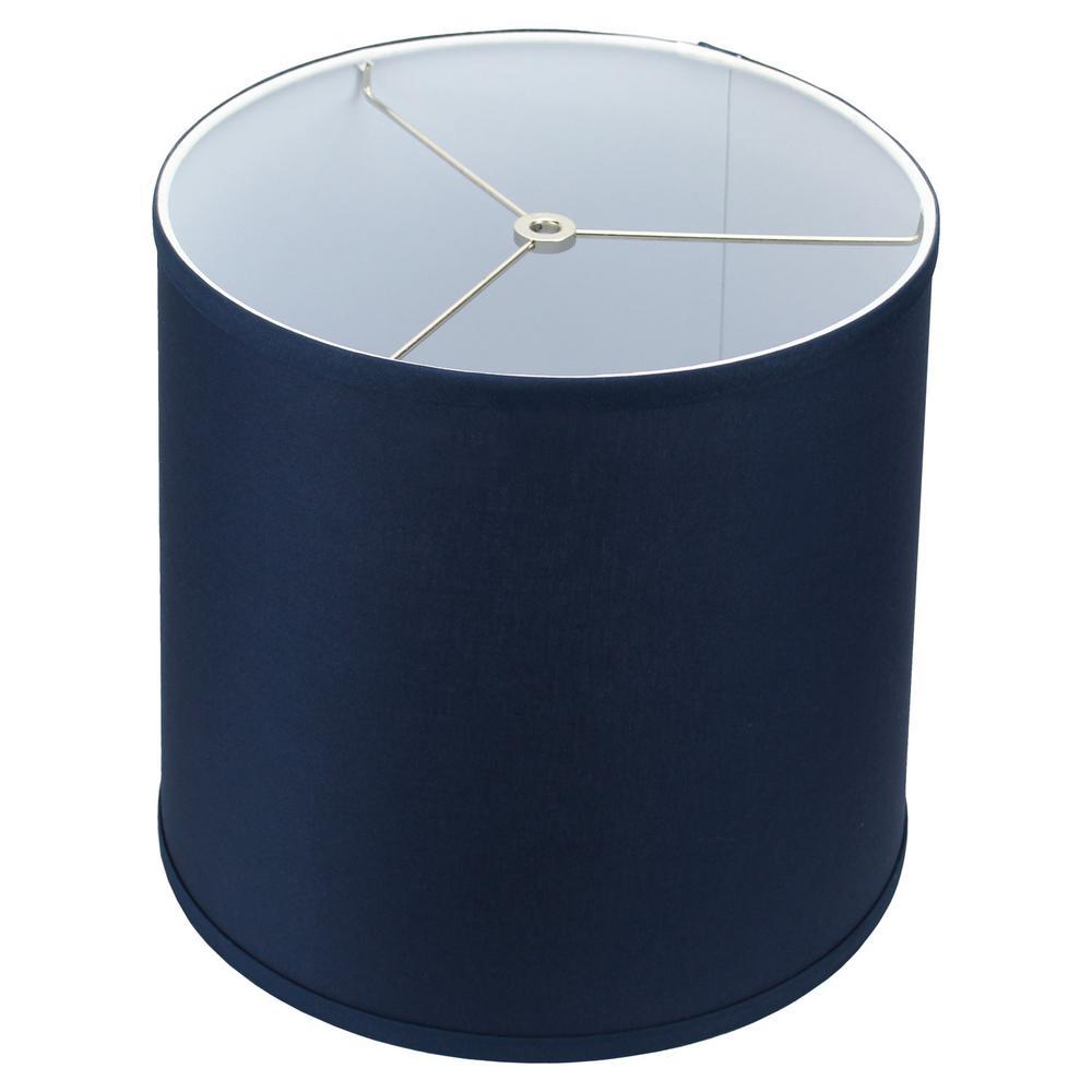 12 in. Top Diameter x 13 in. Bottom Diameter x 12 in. Linen Navy Blue Slant Empire Lamp Shade