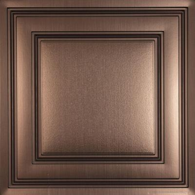 Ceilume Oxford Faux Bronze 2 ft. x 2 ft. Lay-in Ceiling Panel (Case of 6)