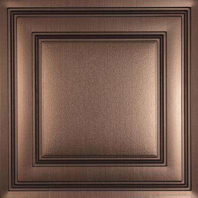 oxford faux bronze 2 ft x 2 ft layin ceiling panel