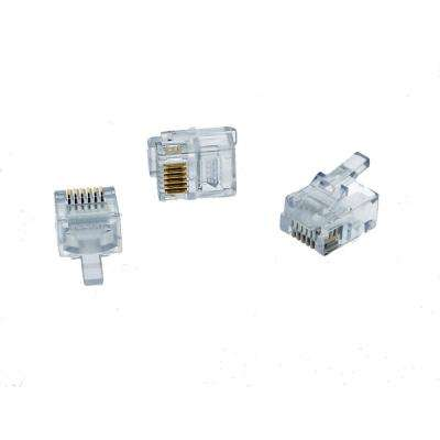 RJ11 Modular Plugs (Standard Package, 3-Packs of 25)