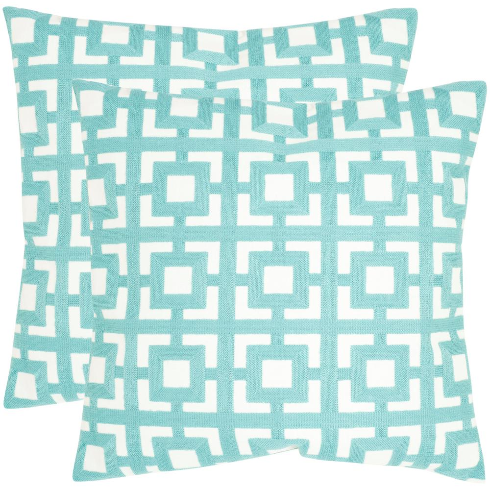 Emily Geometric Embroidered Pillow (2-Pack)