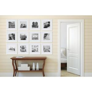 Pinnacle Gallery Perfect 8 inch x 8 inch White Collage Picture Frame Set by Pinnacle
