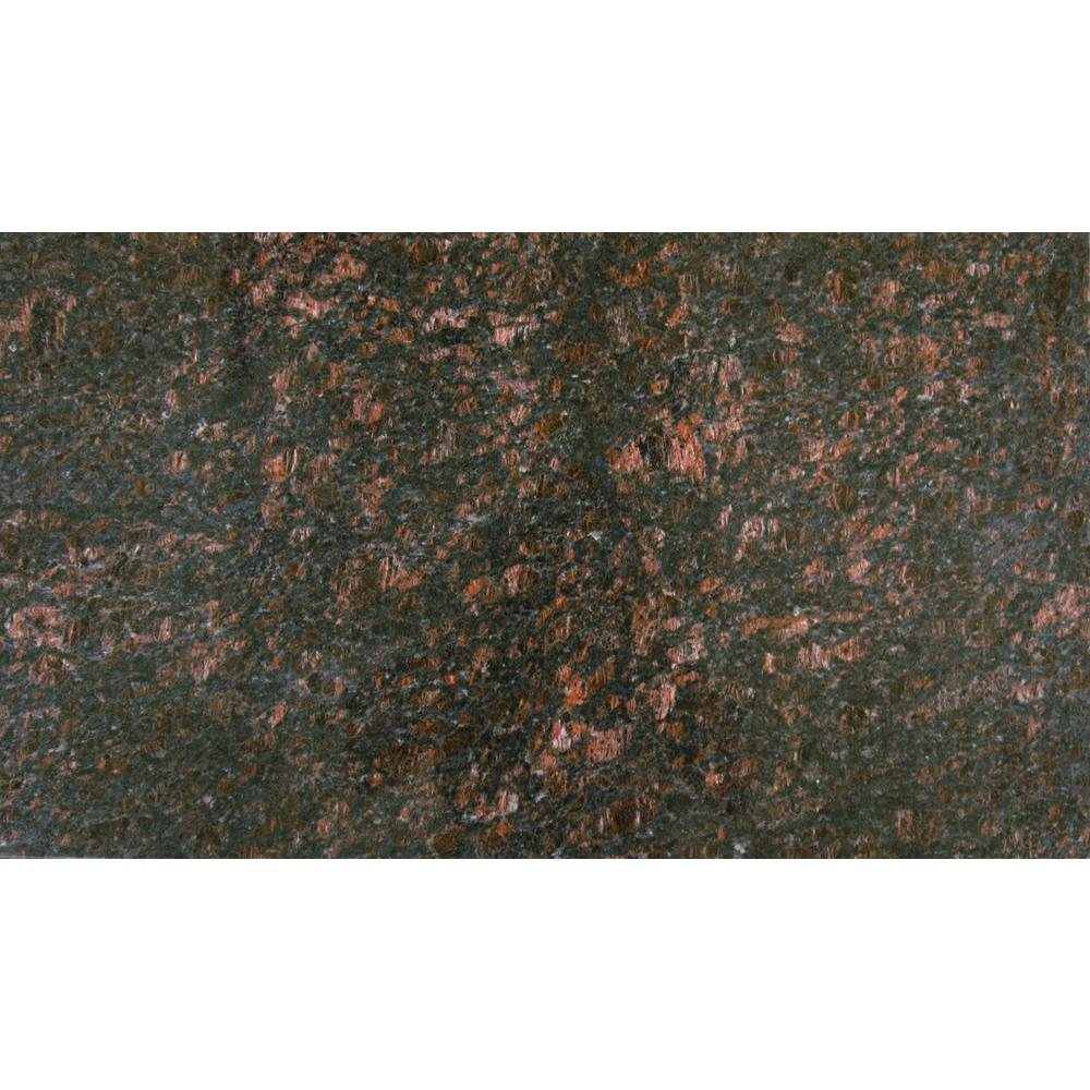 MSI Tan Brown 18 in x 31 in Polished Granite Floor and Wall Tile