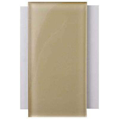 Tessera Subway Sandstone Glass Wall Tile - 3 in. x 4 in. Tile Sample