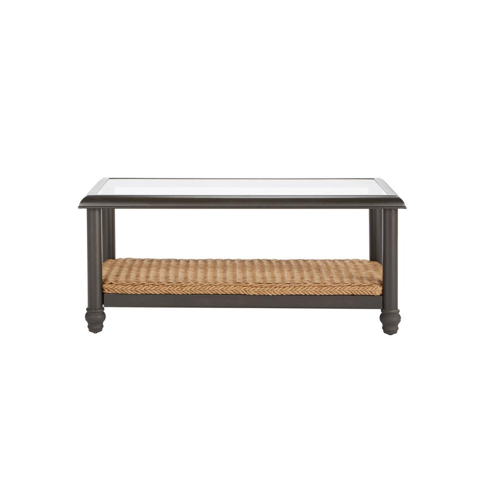 Home Decorators Collection Camden Light Brown Wicker Outdoor Coffee Table