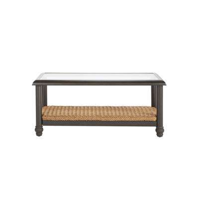 Camden Light Brown Wicker Outdoor Coffee Table