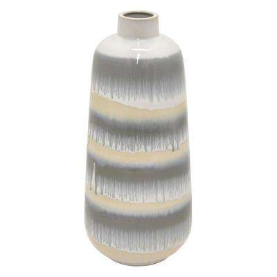 15.5 in. Multi-Colored Ceramic Vase