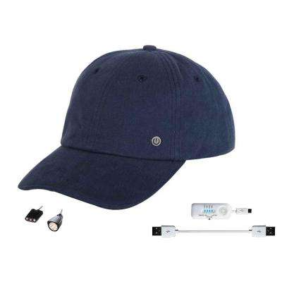 Cell Phone Charging Hat with Attachable LED Lights, Navy