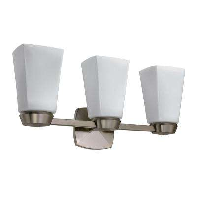 Jewel Triple Sconce in Satin Nickel