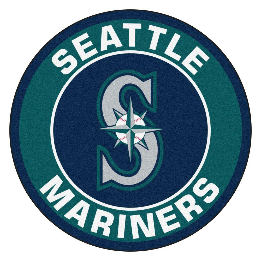 FANMATS MLB Seattle Mariners Green 2 Ft. X 2 Ft. Round