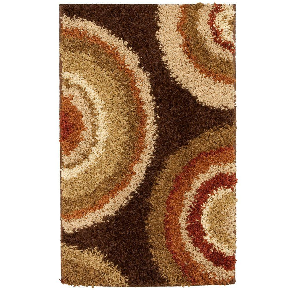 Orian Rugs Eclipse Brown 1 ft. 7 in. x 2 ft. 9 in. Accent Rug
